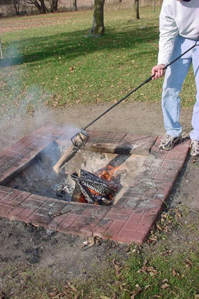 Log Grabber with Fire Pit