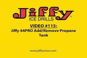 Adding and Removing the Propane Tank on the Jiffy 44PRO